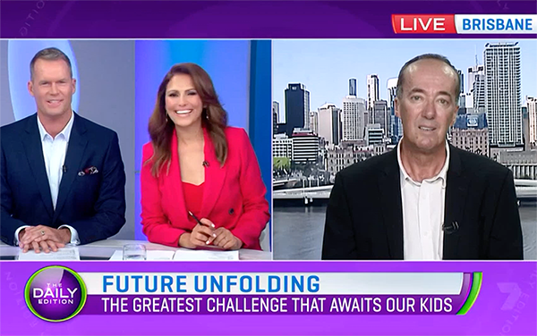 Tony on Channel 7, talking about The Next Generation